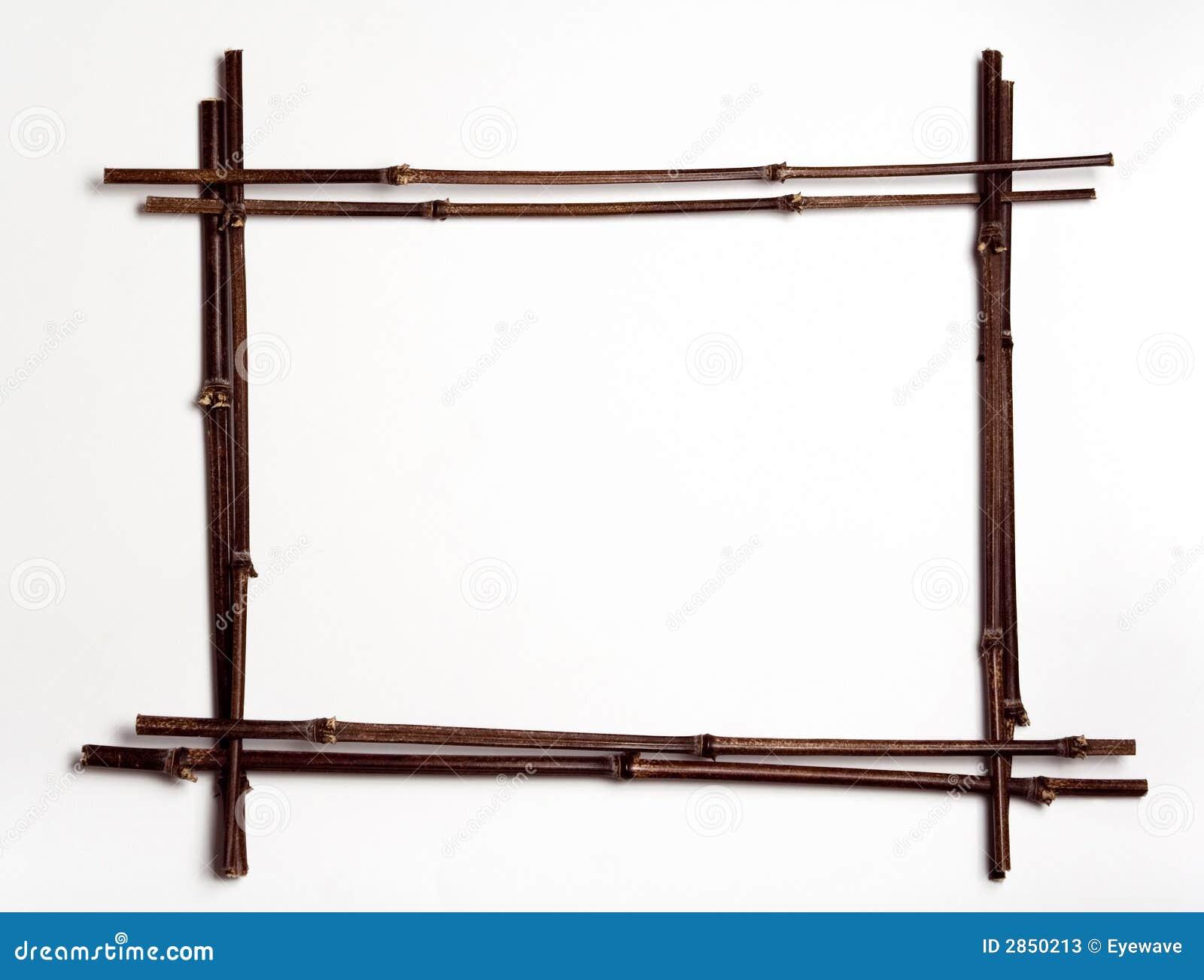 Trame de pôles en bambou w/copyspace