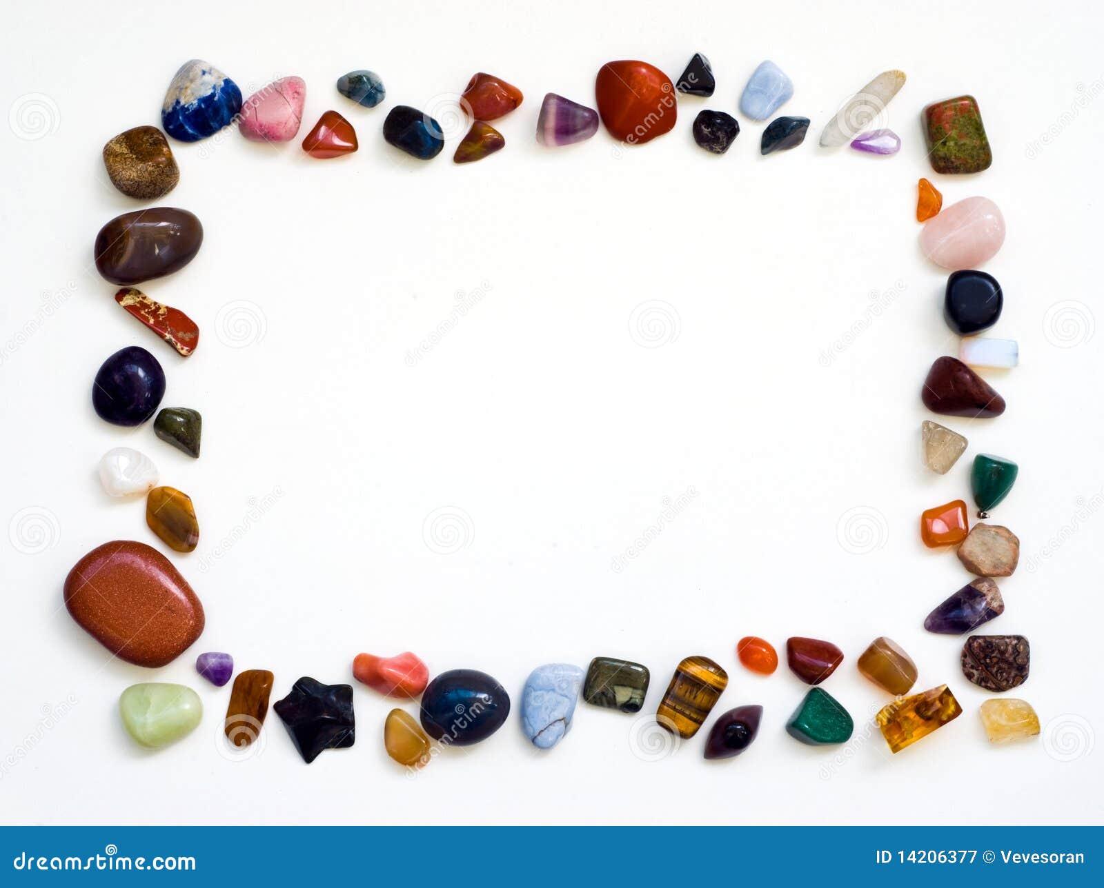 Trame de pierres gemmes