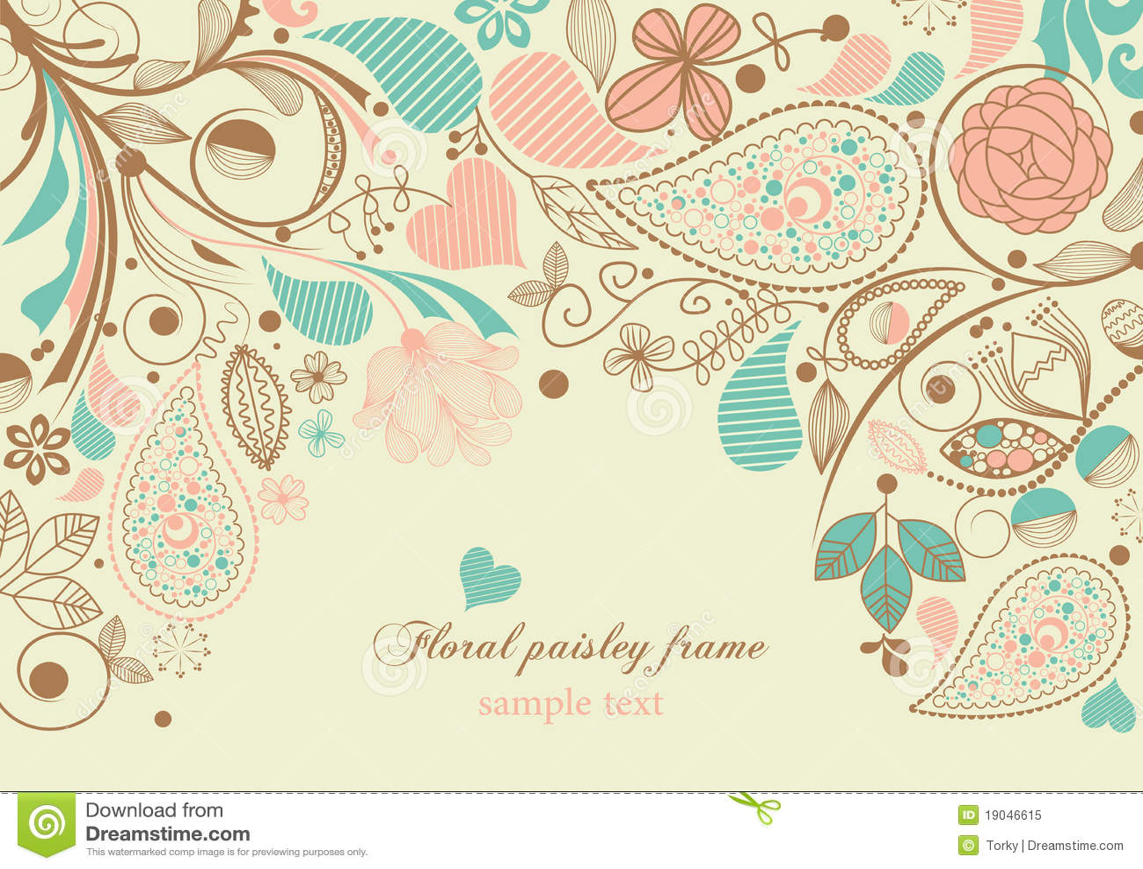 Trame florale de Paisley