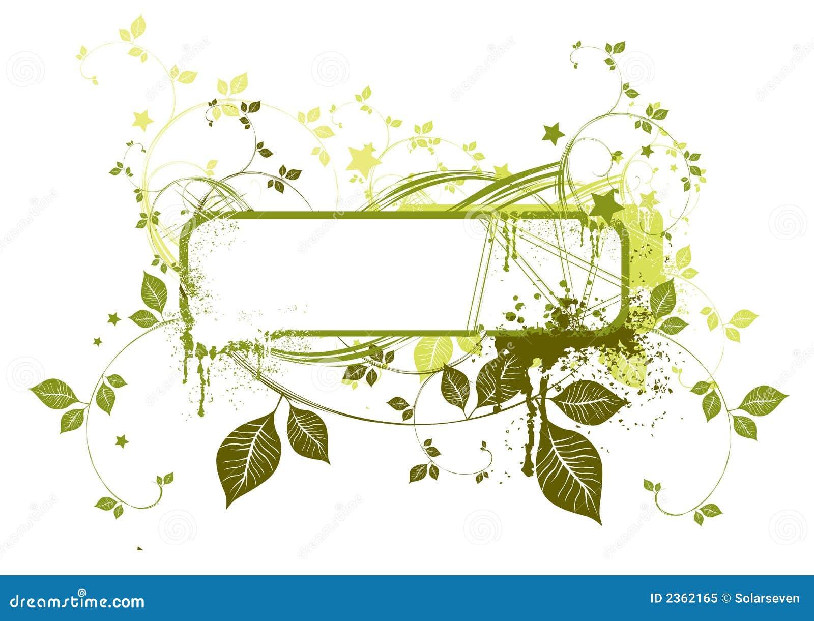 Trame grunge florale