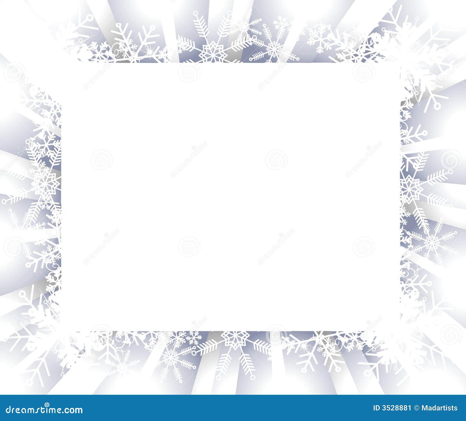 trame ou cadre de flocon de neige illustration stock image 3528881