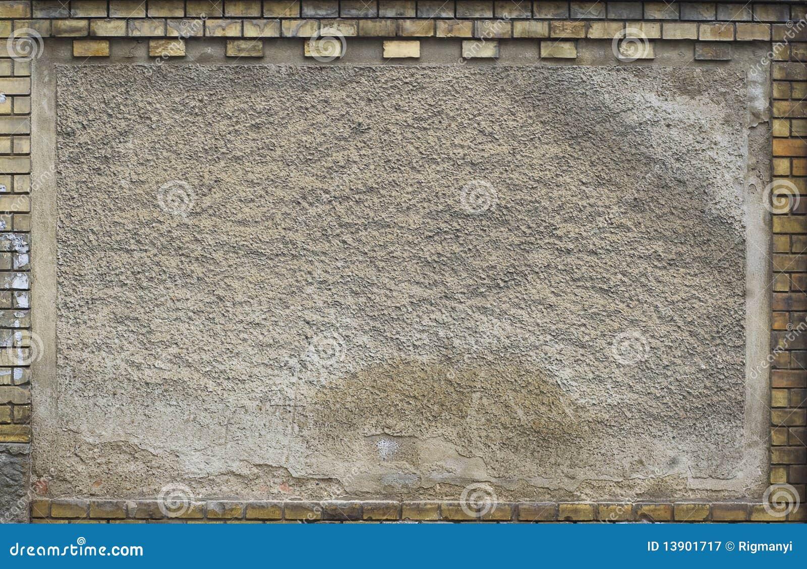 Trame sale de mur de briques