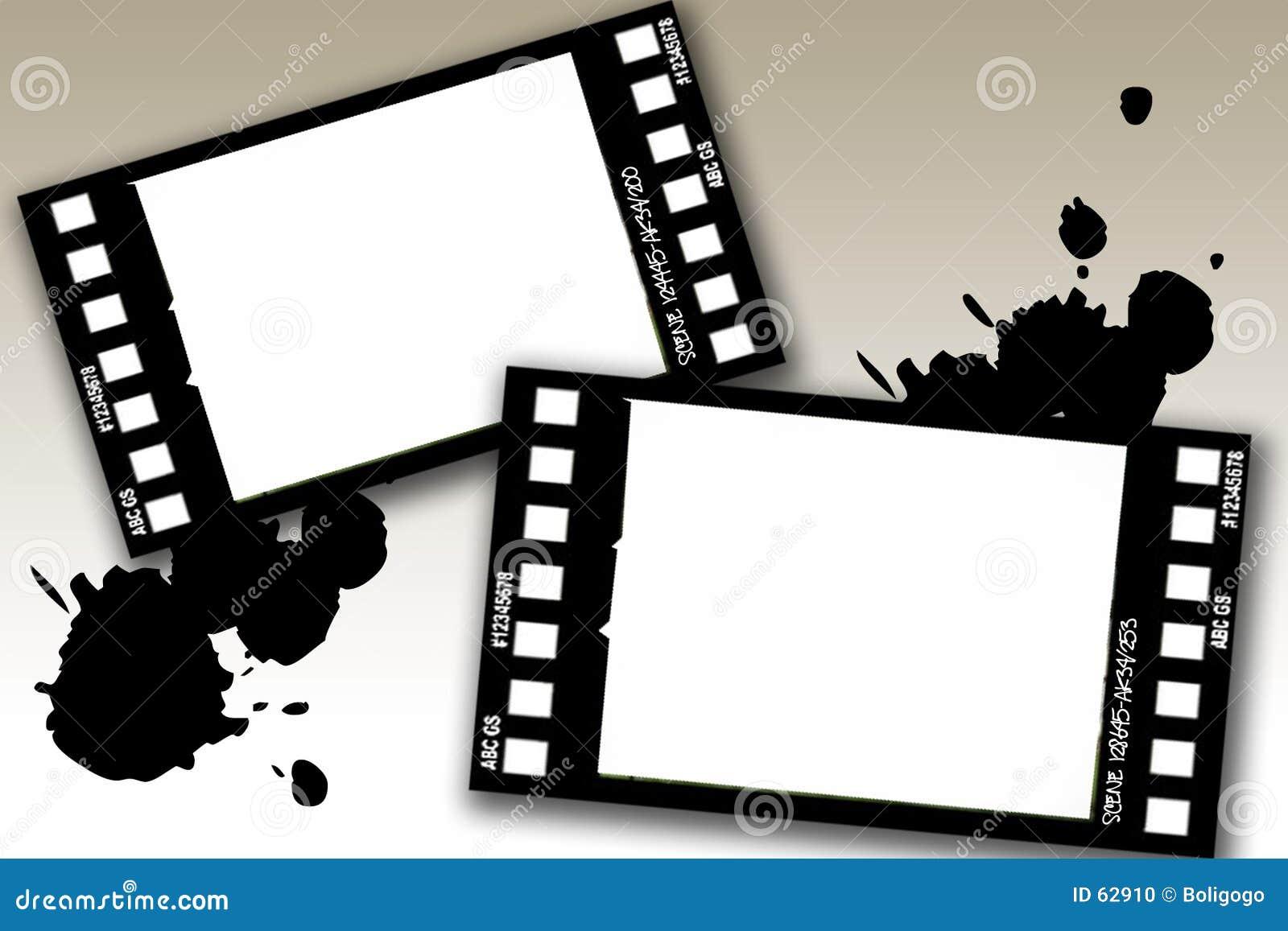 Trames de film grunges