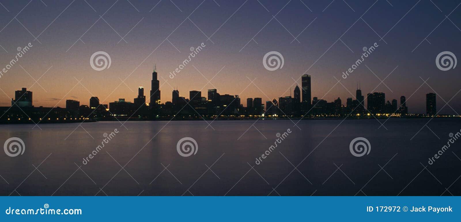 Tramonto del Chicago