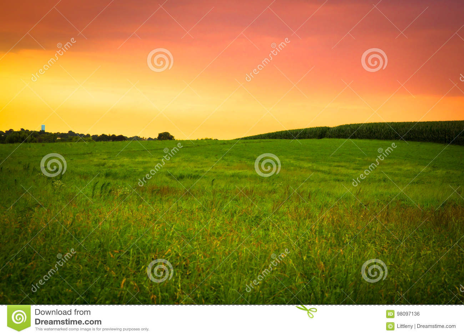 Tramonto dell azienda agricola di Amish