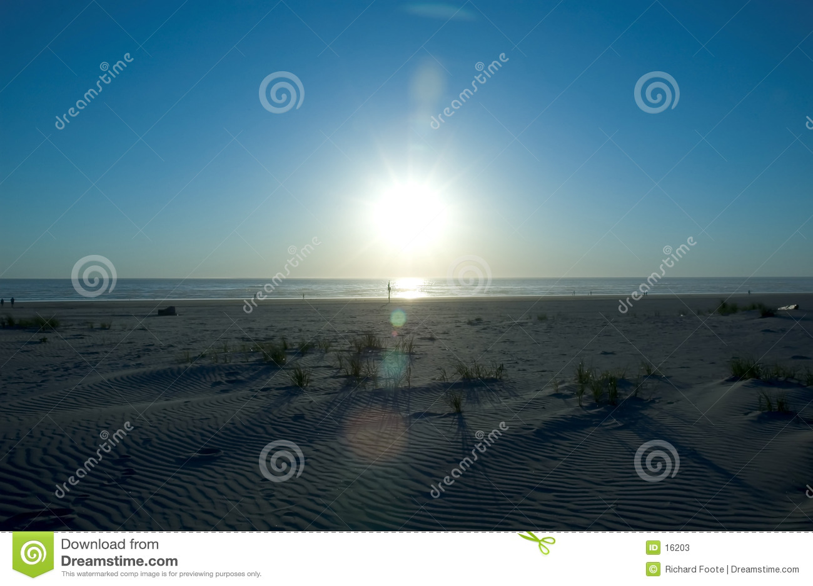 Tramonto della spiaggia