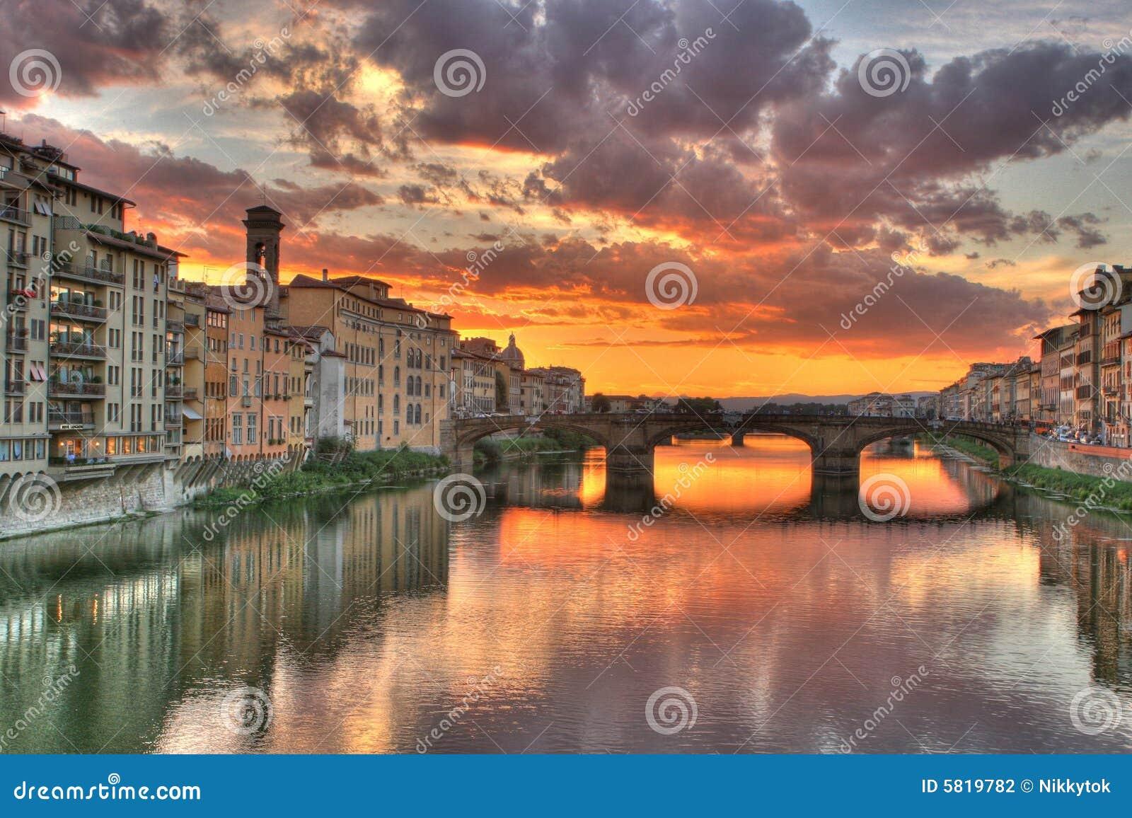 Tramonto a Firenze, Italia