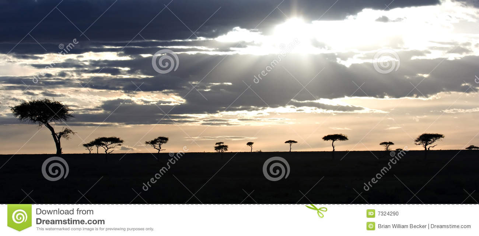 Tramonto in Masai Mara Kenia