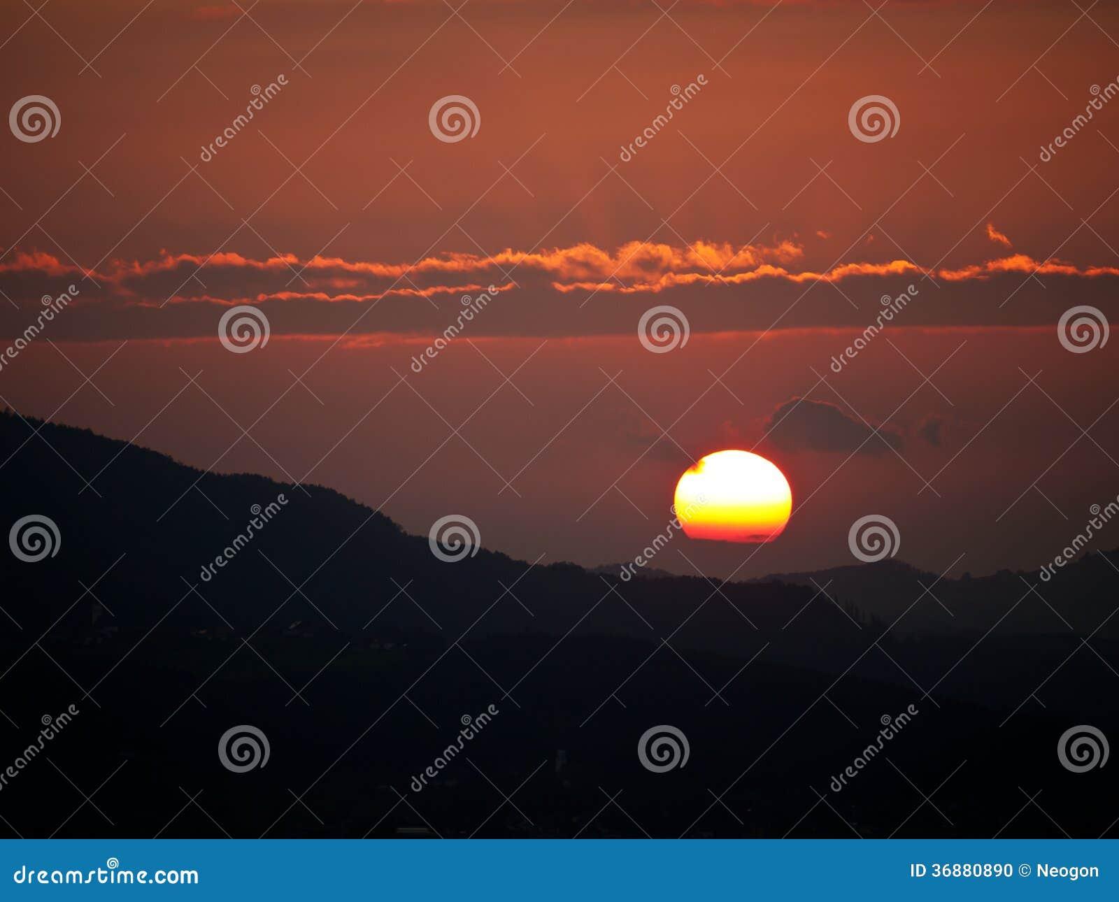 Download Tramonto, Salisburgo, Austria Fotografia Stock - Immagine di tenebroso, bello: 36880890