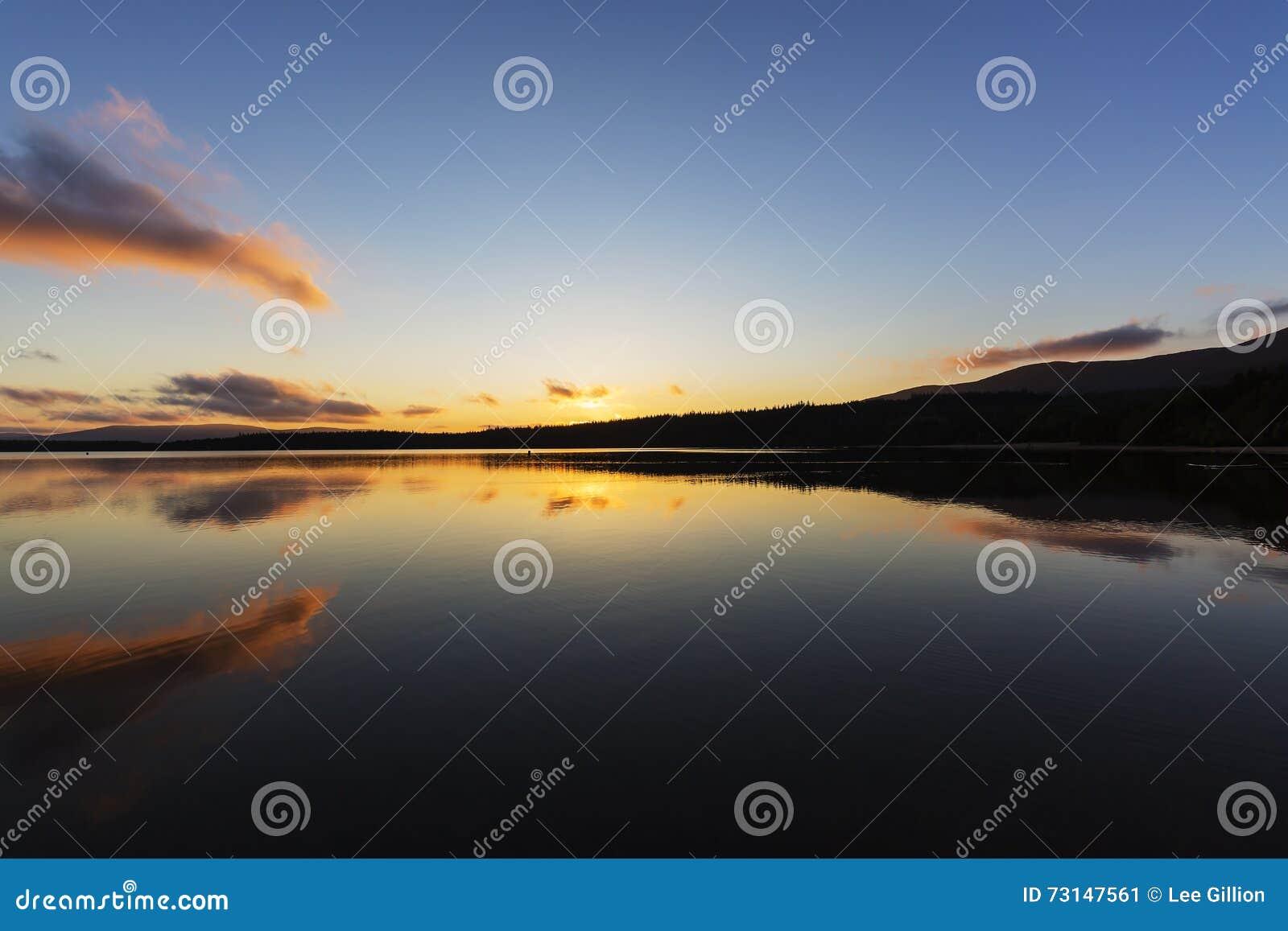 Tramonto sopra il lago Morlich