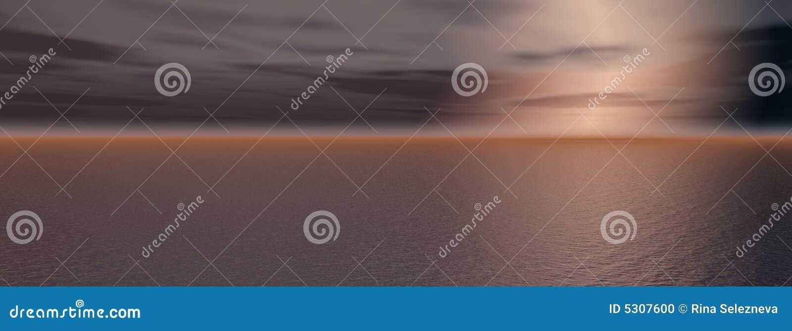 Download Tramonto sul mare illustrazione di stock. Illustrazione di altezza - 5307600