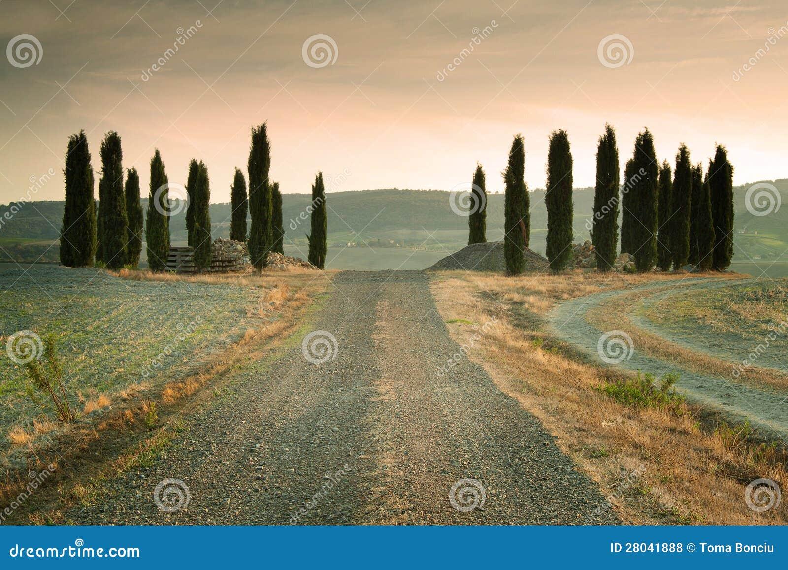 Tramonto in Toscana Italia