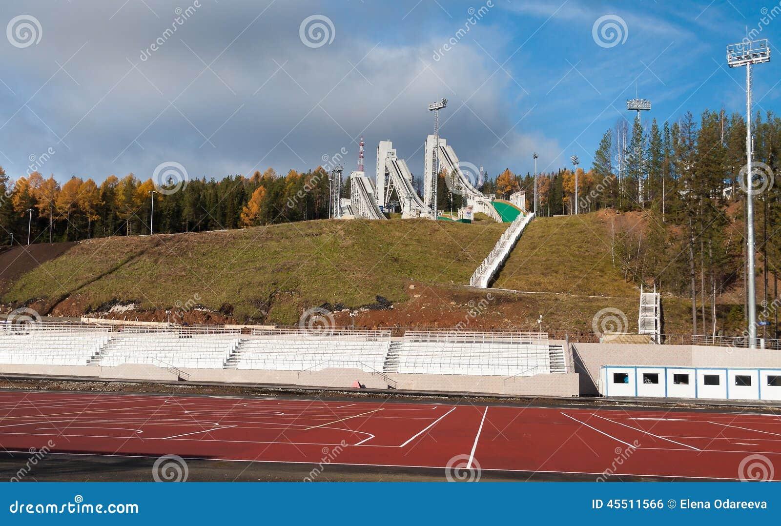 Trampolina kompleks na górze Tęsk w Nizhny Tagil Rosja