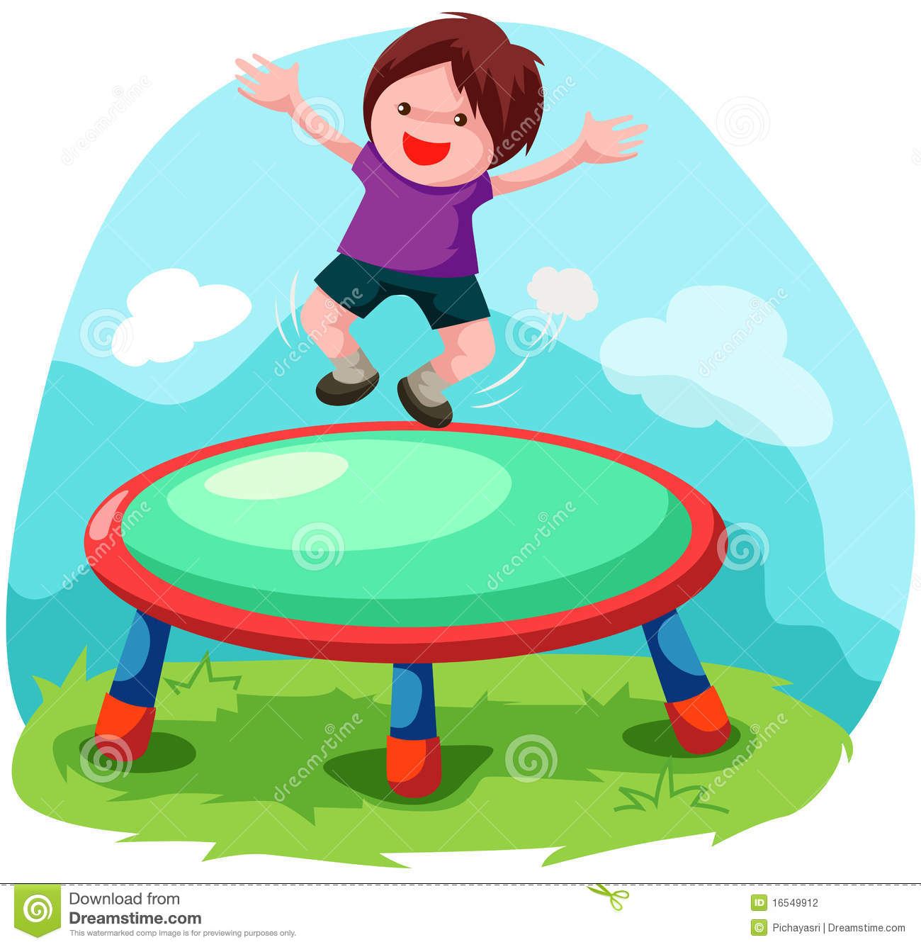 Trampoline Jumping Stock Photography Image 16549912