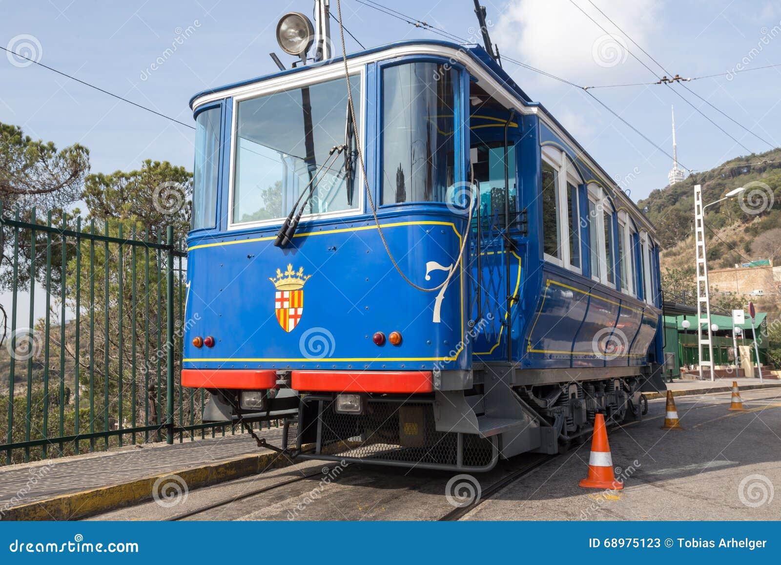 tramvia blau cable car barcelona spain