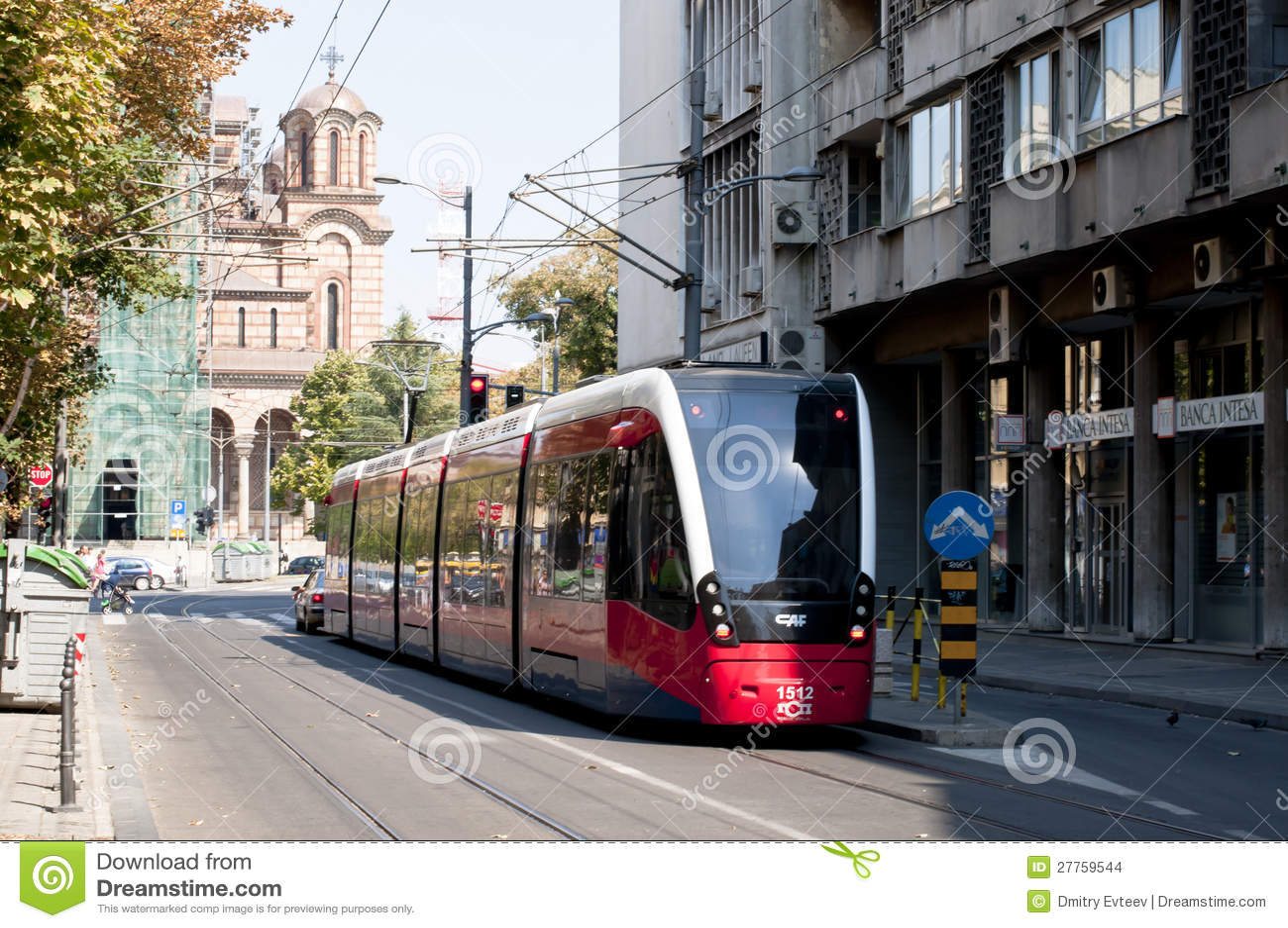 Tramway à Belgrade