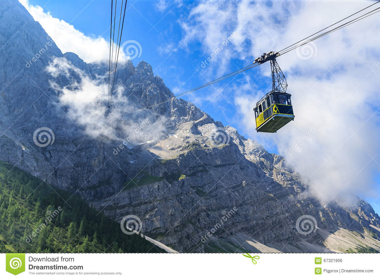 Download The Tramway From Eibsee To The Summit Of Zugspitze Stock Photo - Image of cable, tram: 67321906