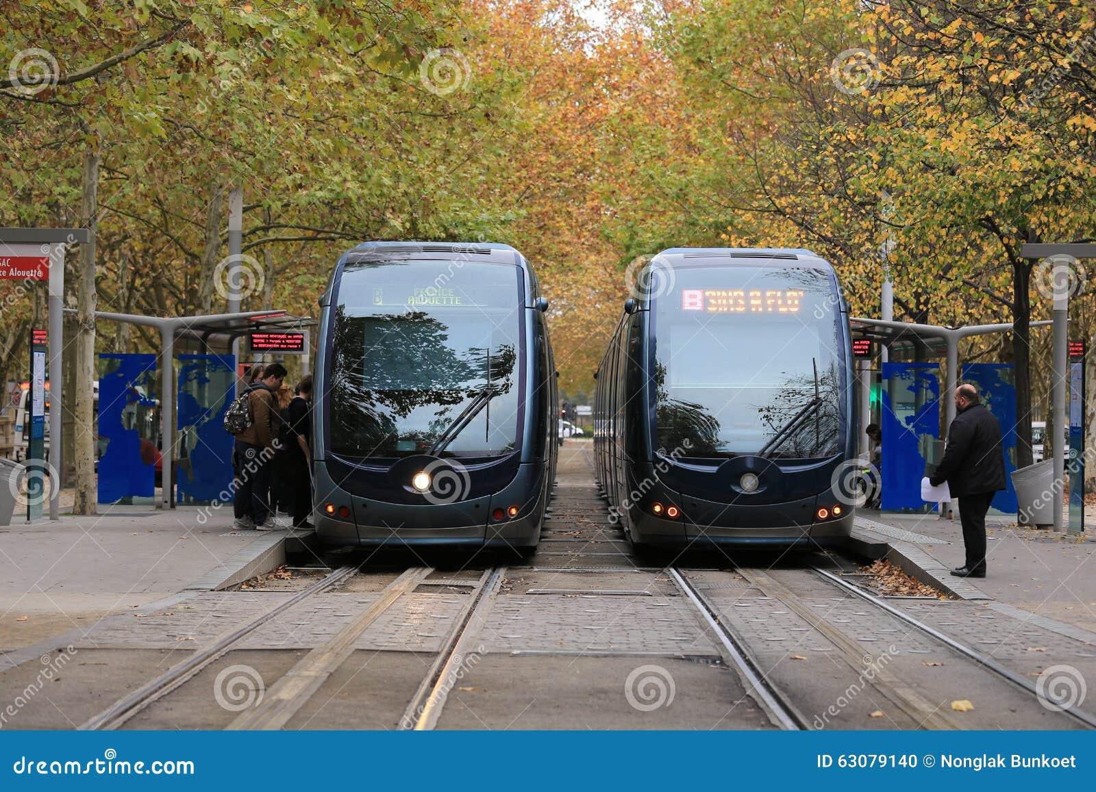 Download Tramway en Bordeaux image éditorial. Image du france - 63079140