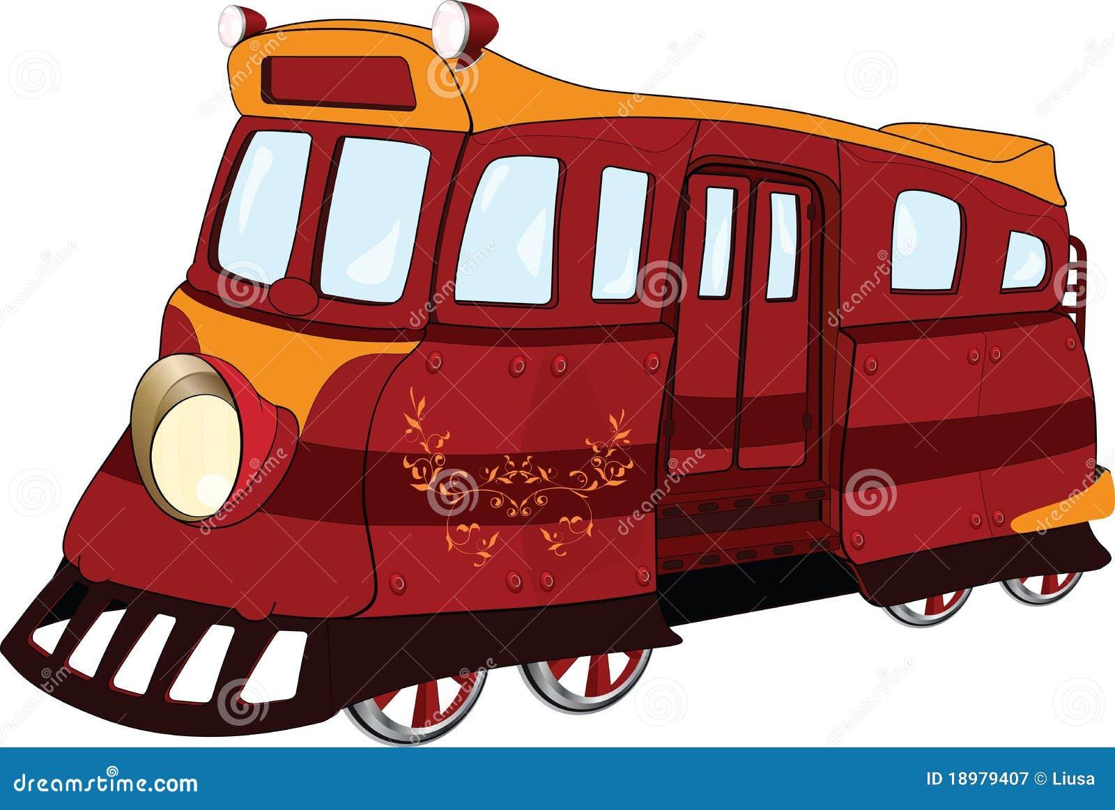 Tramway fantastique dessin anim illustration de vecteur illustration du d suet balustrade - Dessin tramway ...
