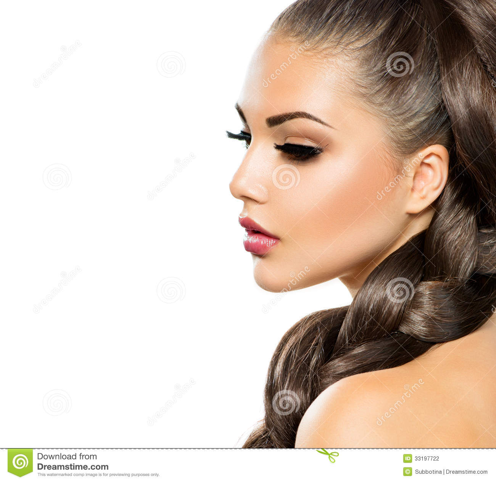 Trança do cabelo