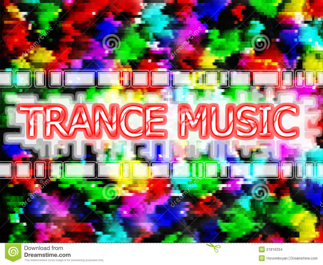 Trance music stock illustration  Illustration of color