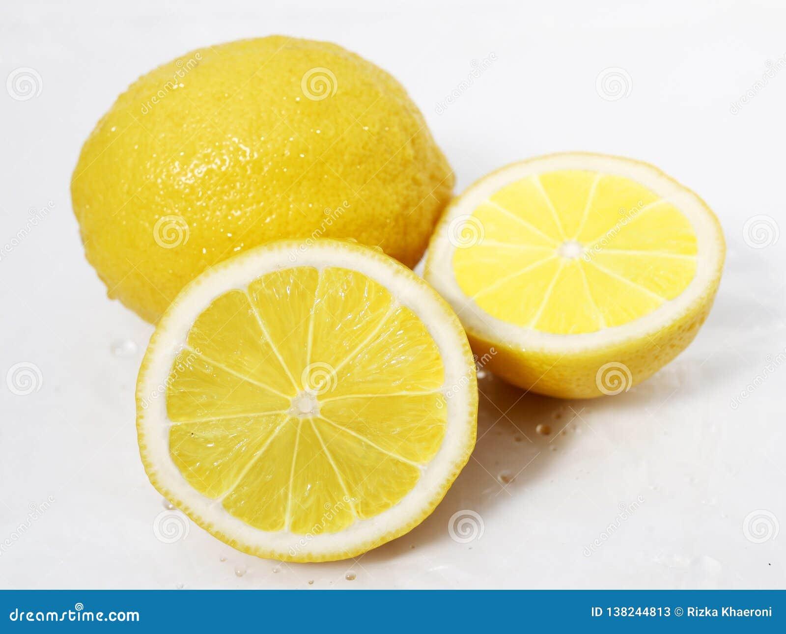 Tranche fraîche de citrons Photoshoot de fruit