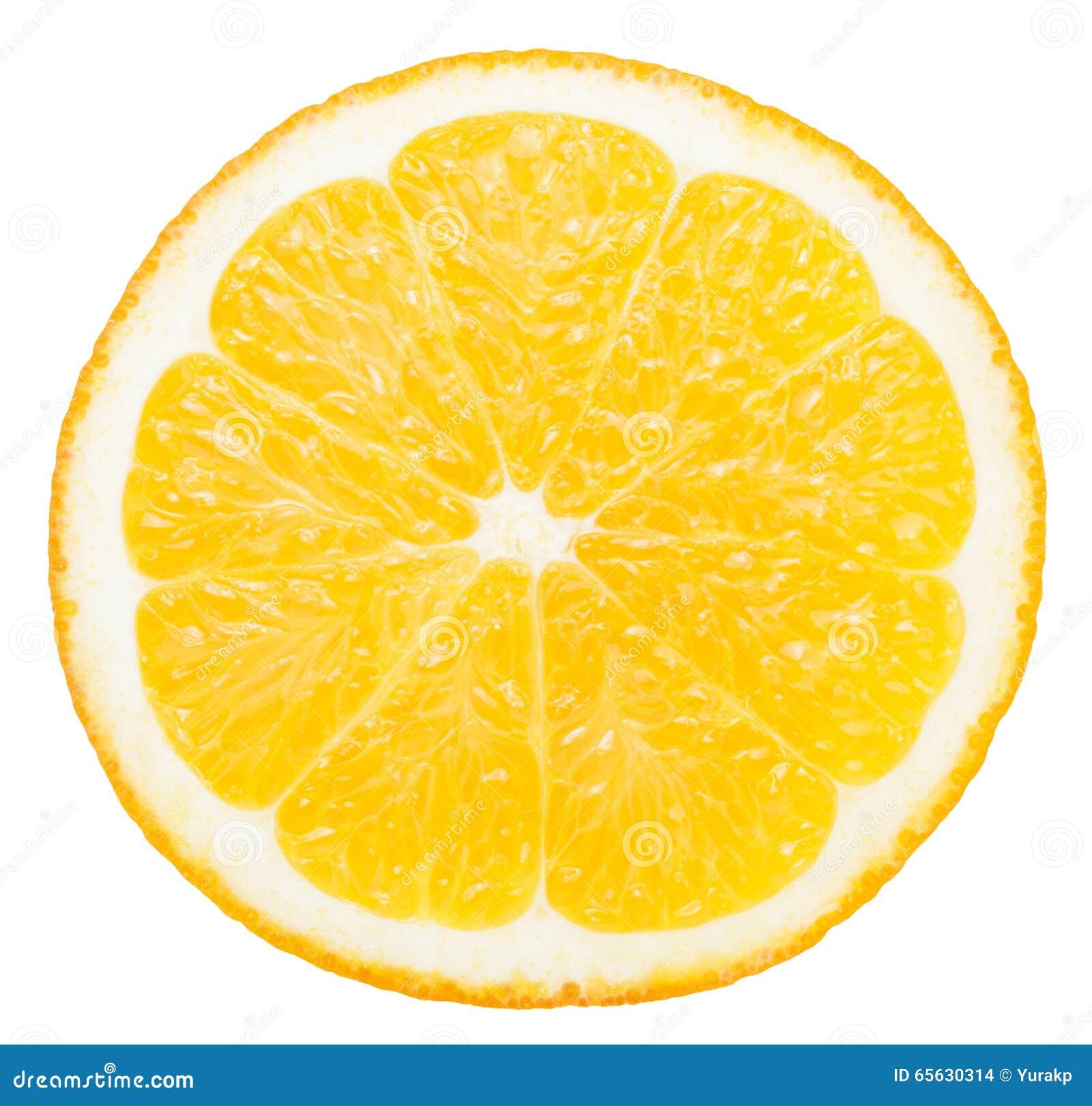 Tranche orange d isolement sur le fond blanc