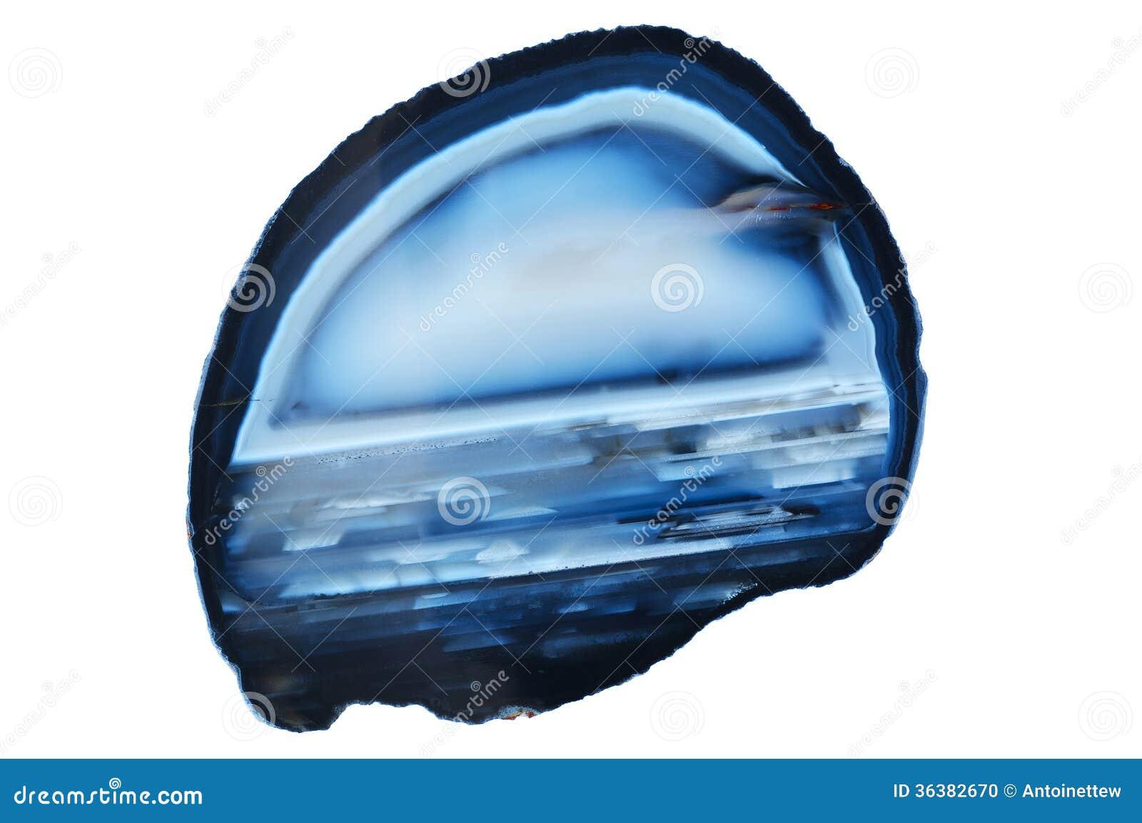 Felicia amelloides - aster du Cap Tranche-polie-de-pierre-gemme-bleue-d-agate-36382670