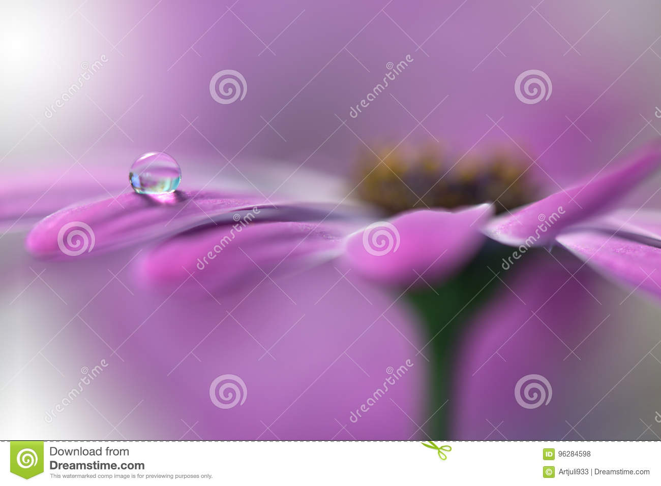 Tranquil abstract closeup art background.Macro photography,water drops.Beautiful Nature.Floral Art.Spring,pink,plant.Amazing.