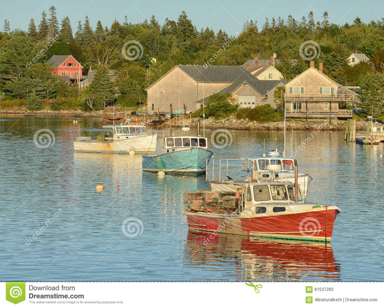 Scenic maine fishing village royalty free stock for Acadia national park fishing