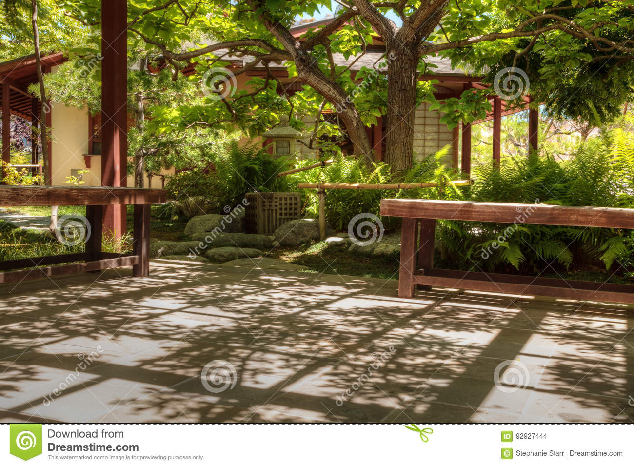 Tranquil Japanese Friendship Garden At The Balboa Park In San Di ...
