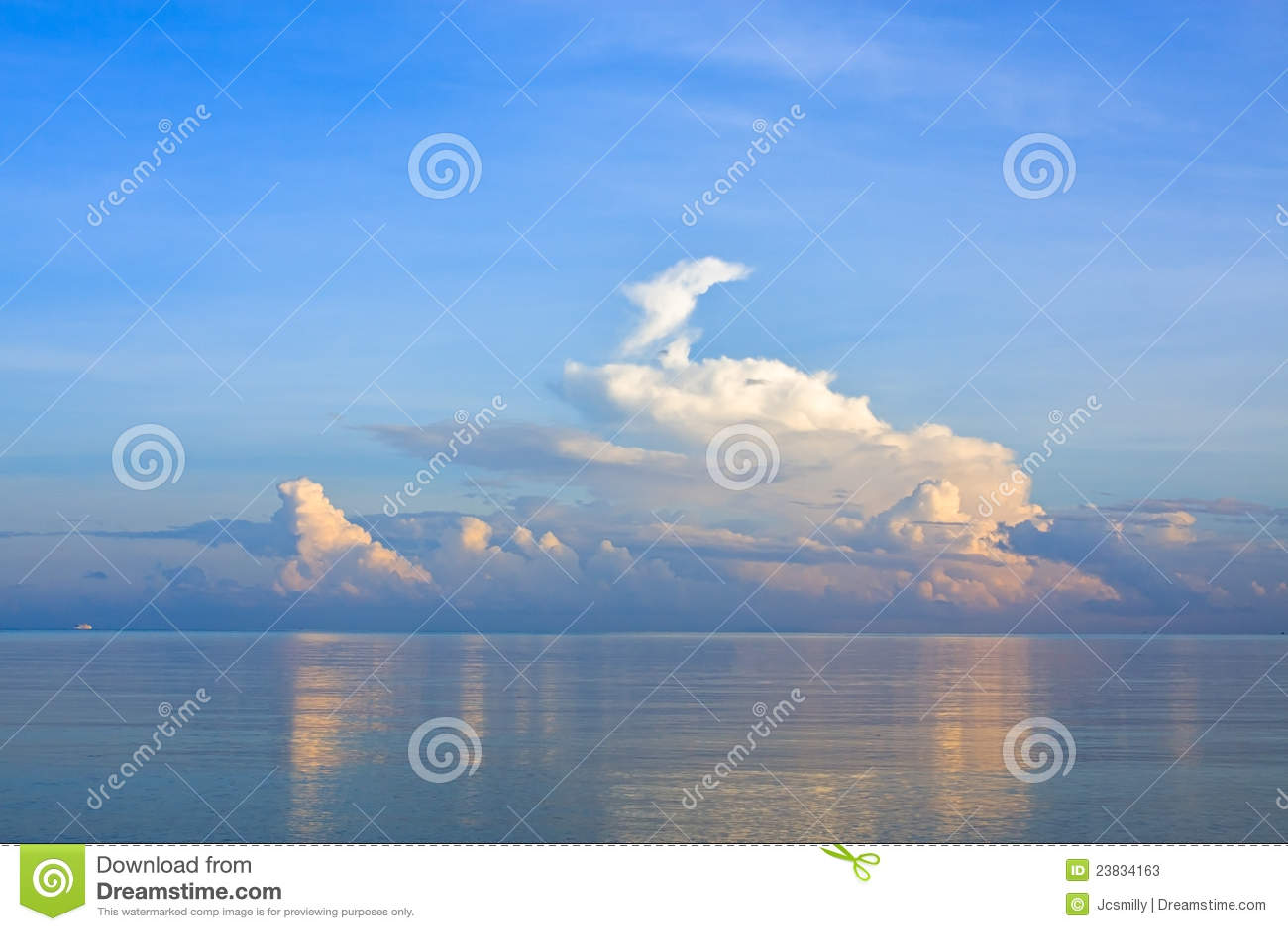 Tranquil scene sea landscape in the mornig