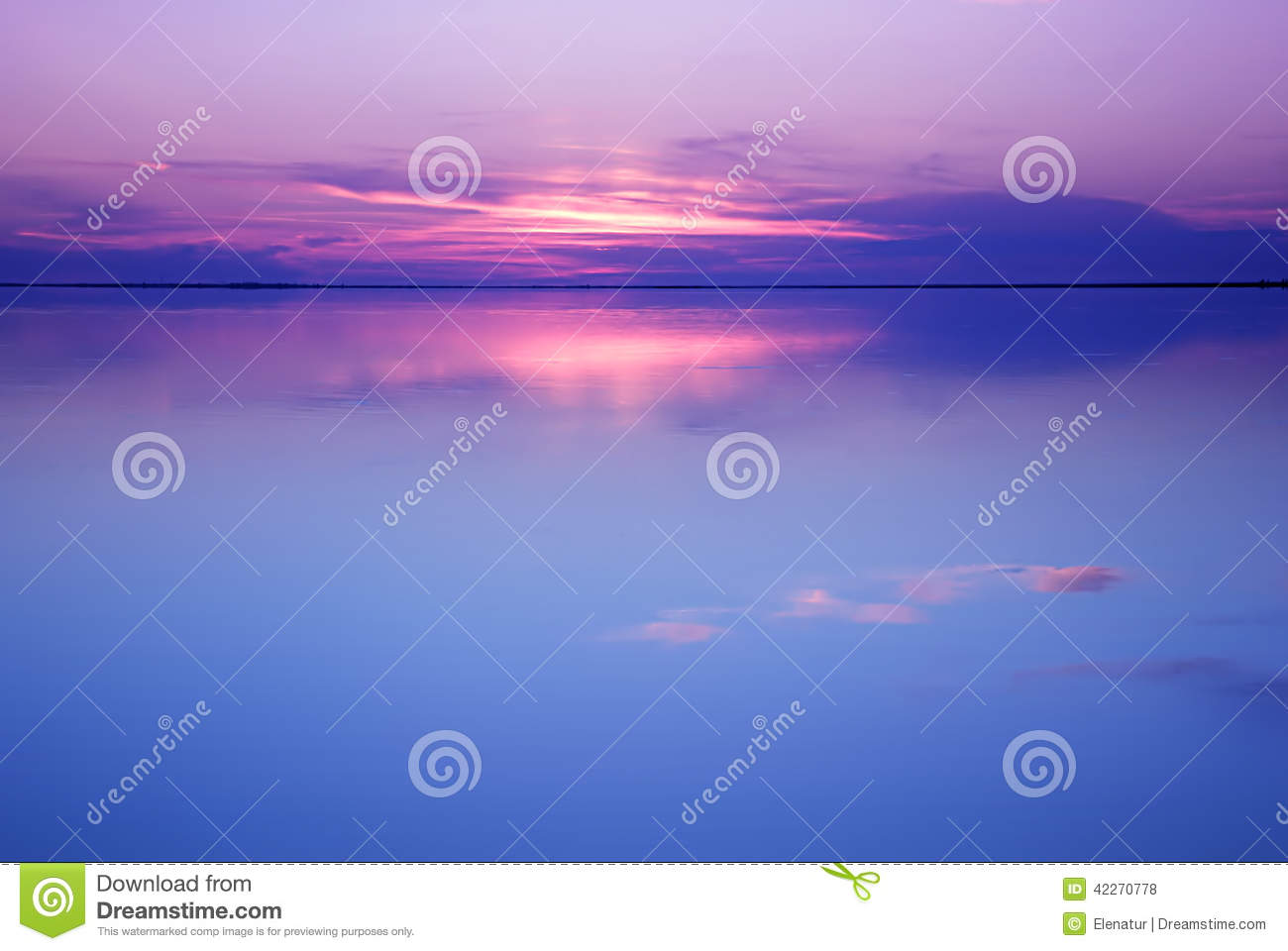 Tranquil Colors Tranquil Scenery In Blue And Pink Colorsstock Photo  Image