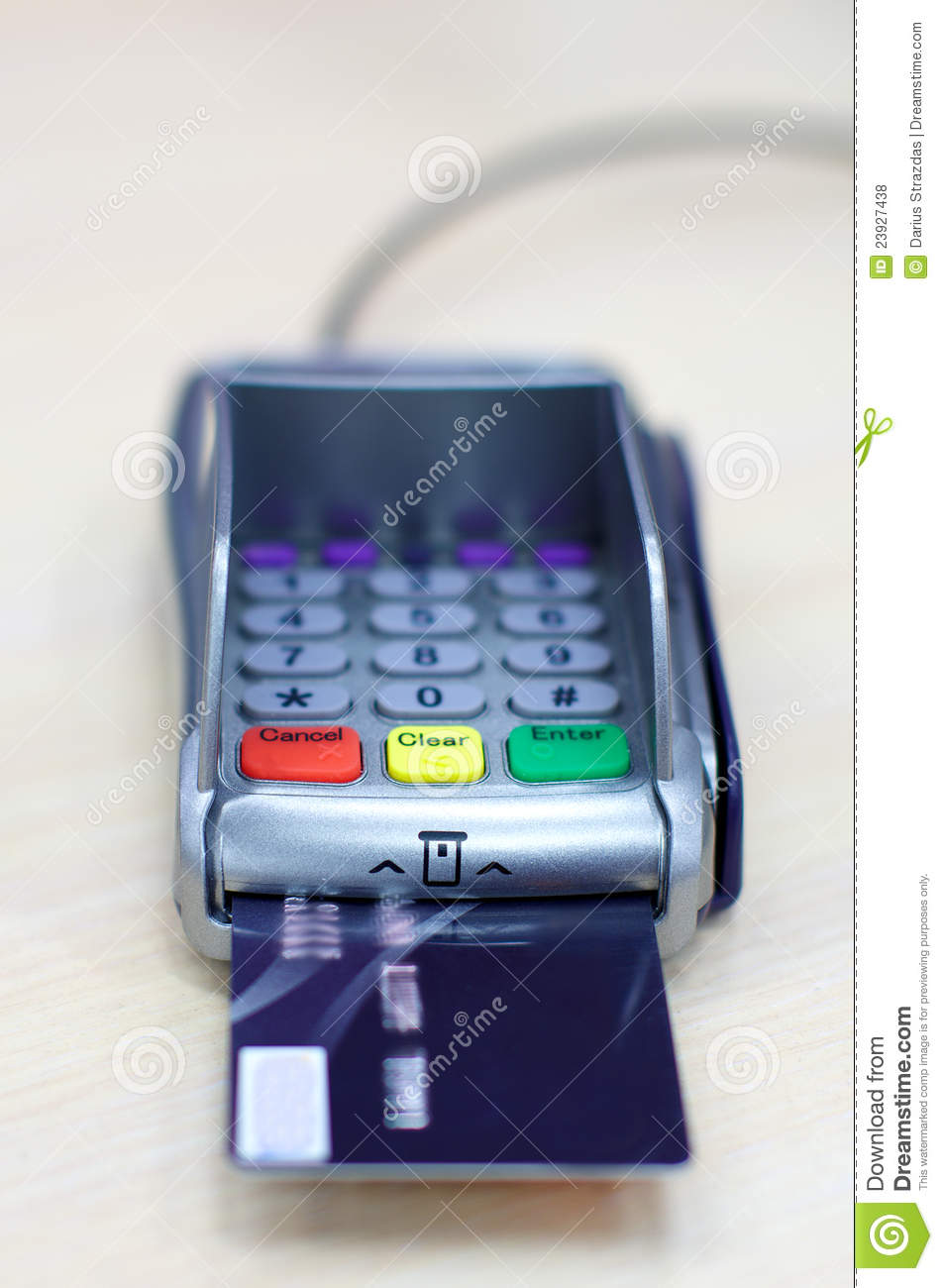 Transaction With Credit Debit Card Shopping Stock Photo