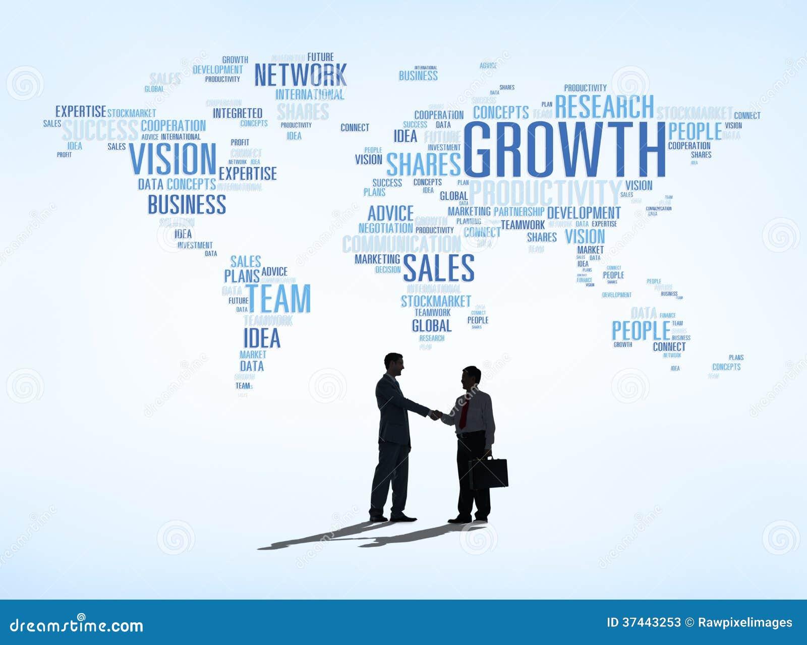 Transakcja Biznesowa sukces z Światową mapą