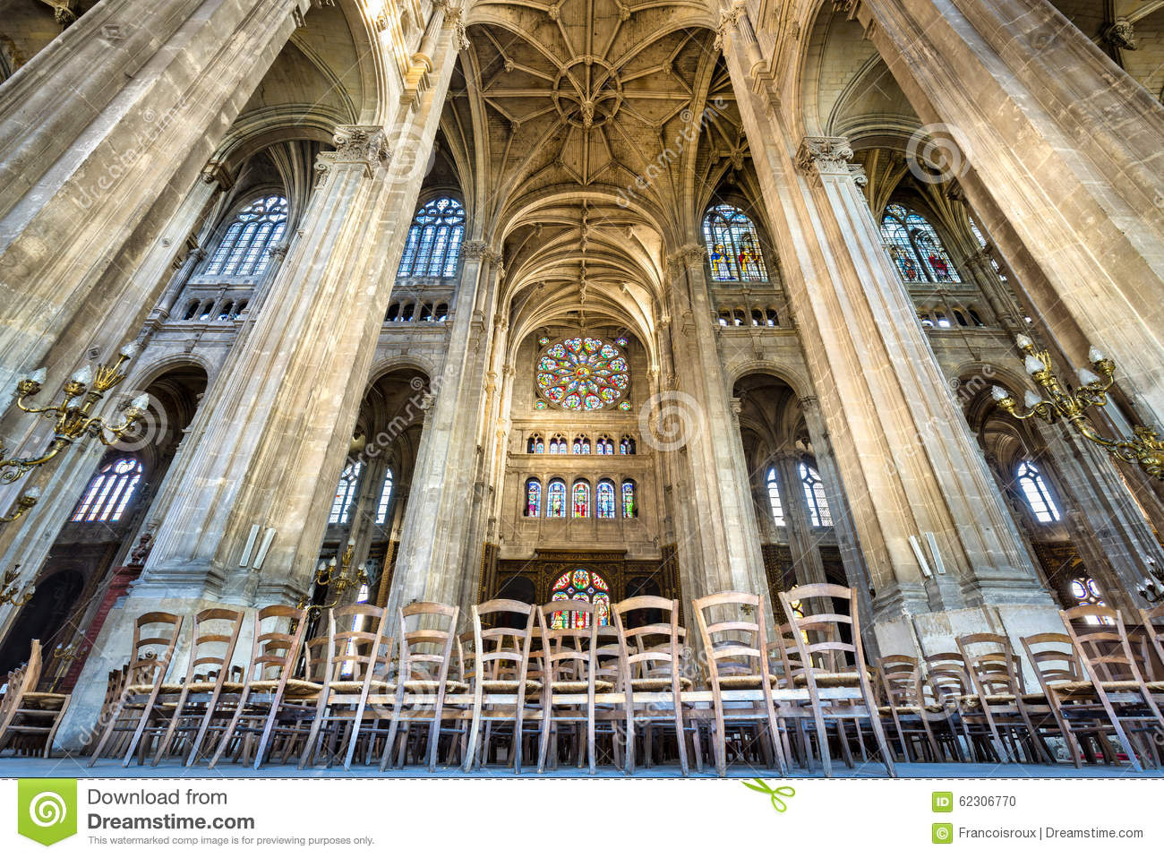 Transept With Vaulted Arches Church Of Saint Eustache