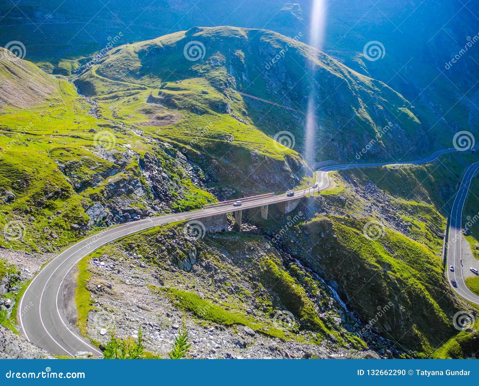 The Transfagarasan mountain road
