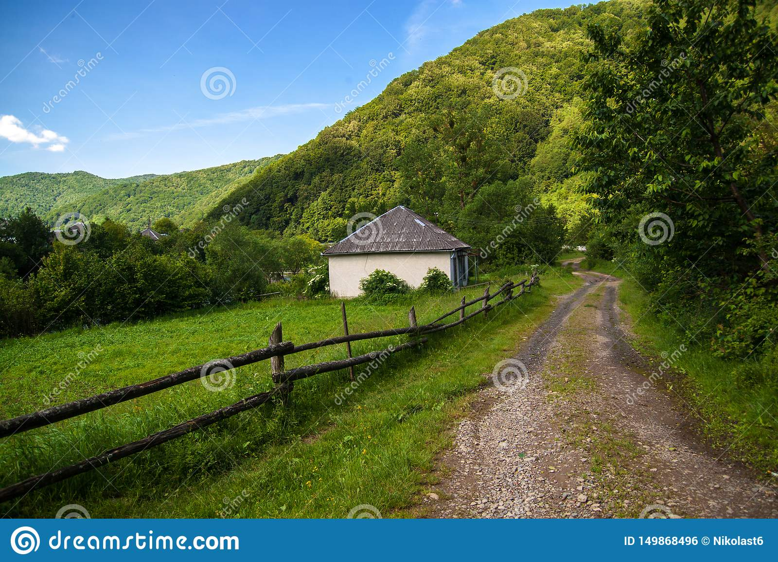 A beautiful summer mountain landscape - the carpathians