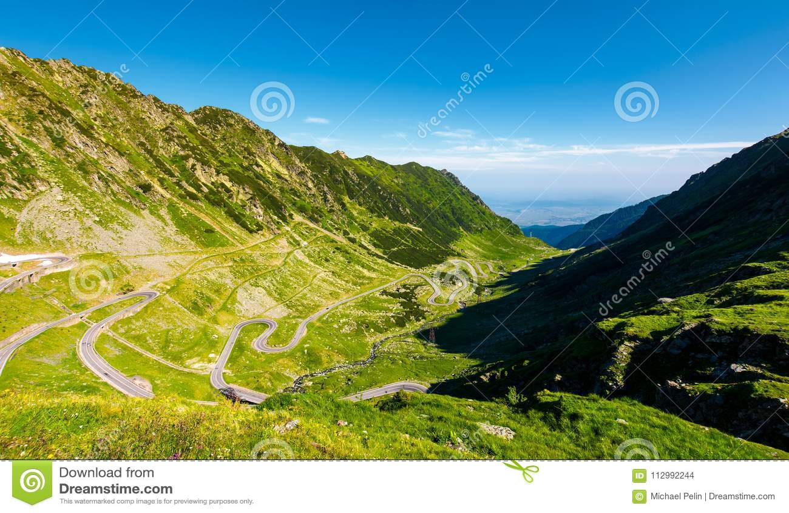 Transfagarasan road in mountains of Romania