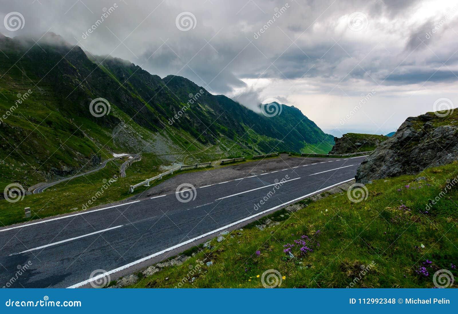 Transfagarasan road on a rainy day