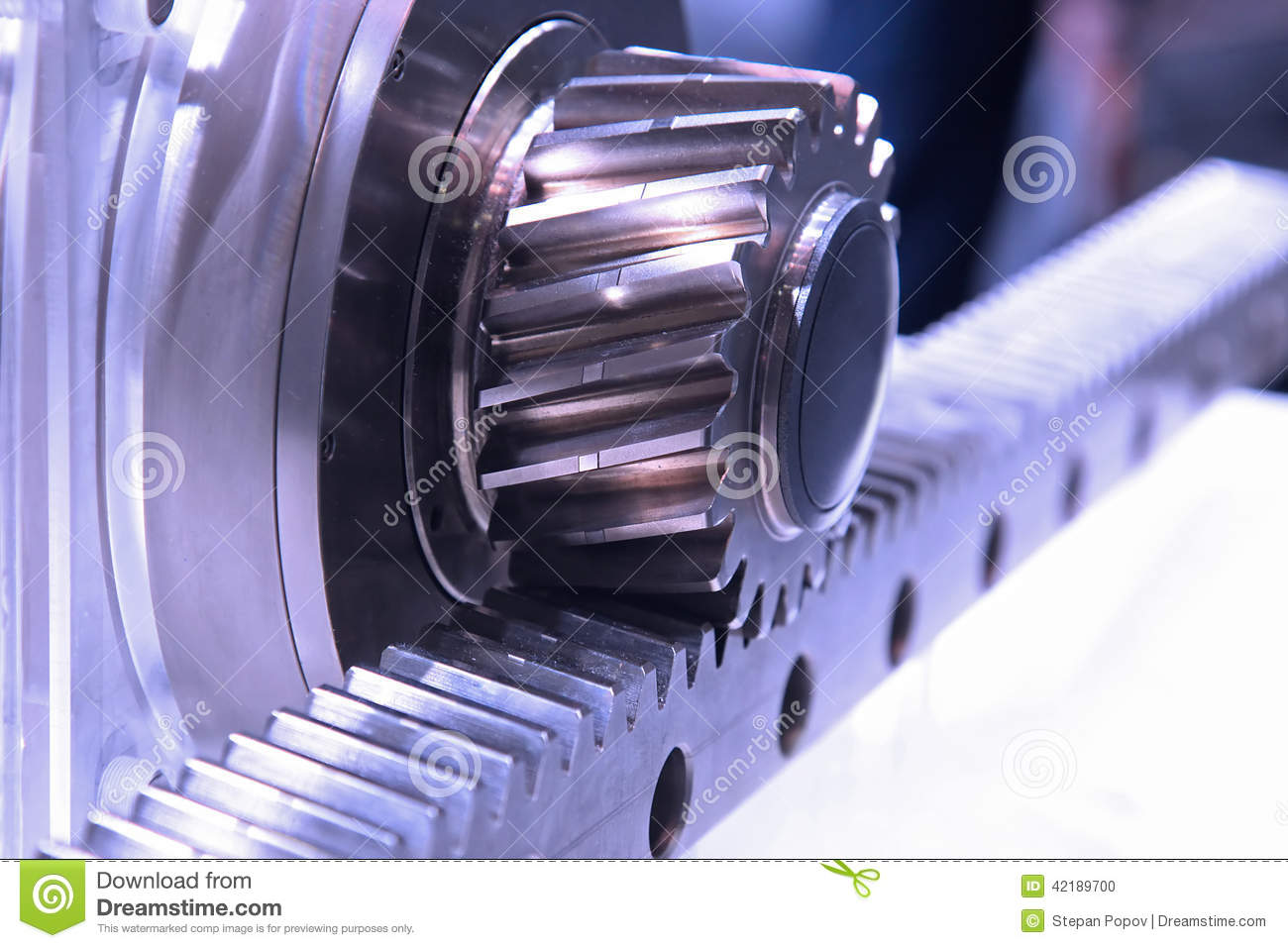 transfer of rotation in linear motion stock photo