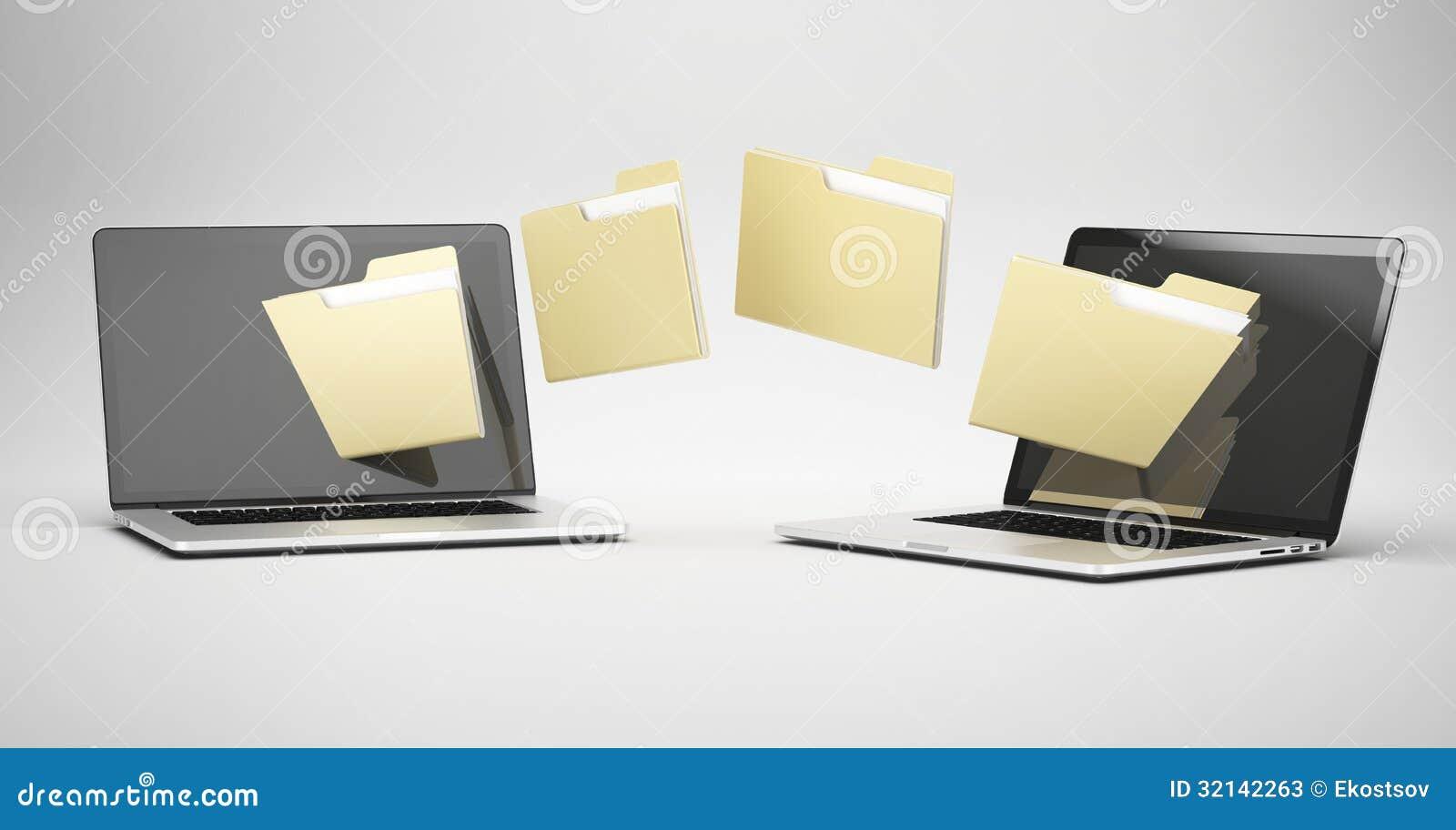 Transferring between two laptops