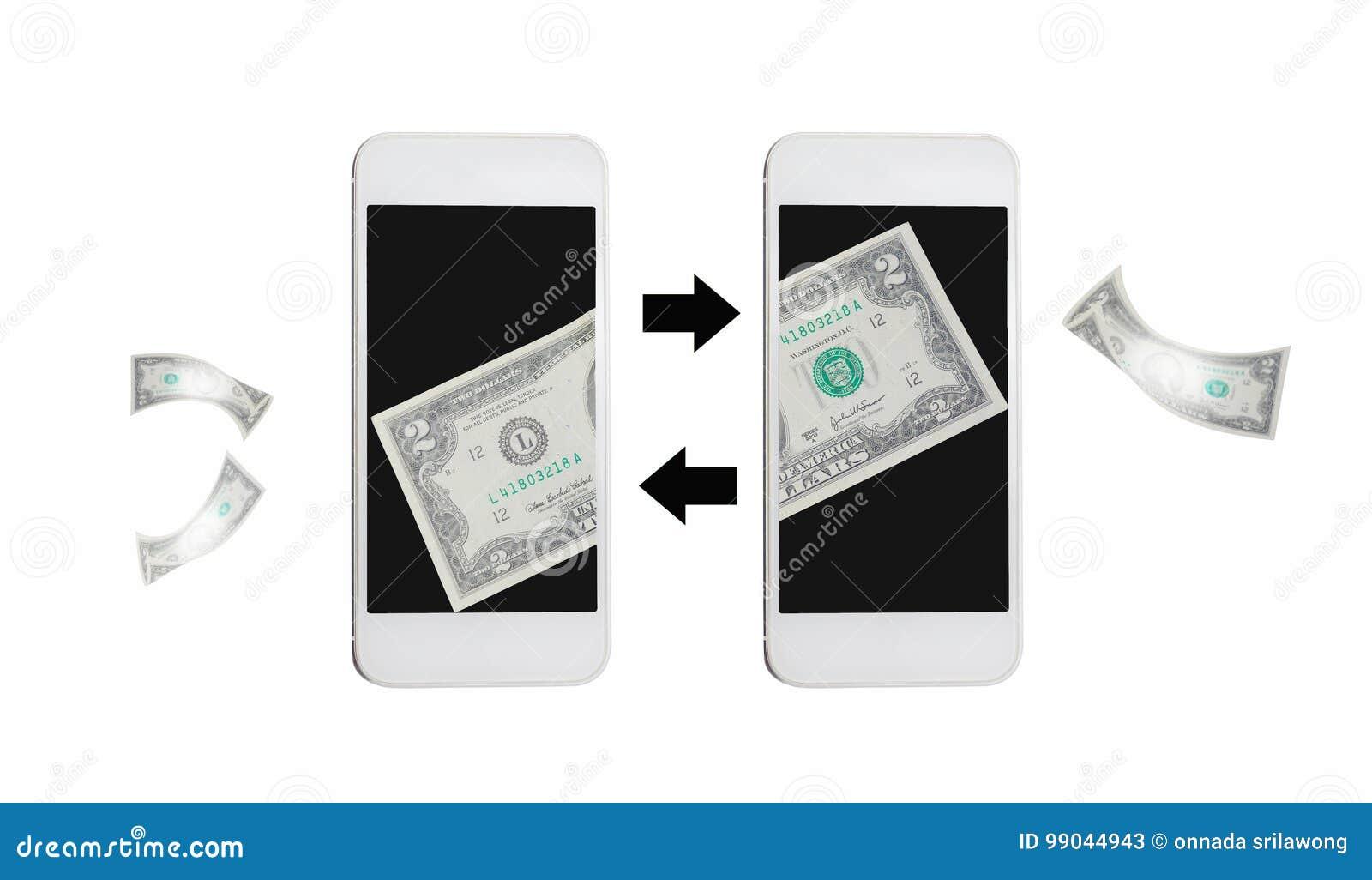 Transfert d argent en ligne par l Internet sur le mobile