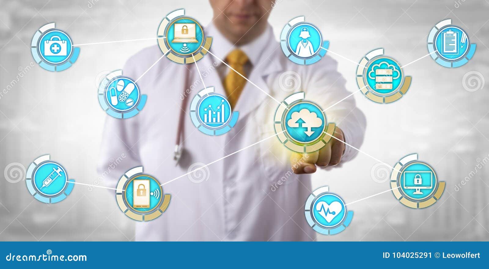 Transfert des données d Activates Mobile Cloud de médecin