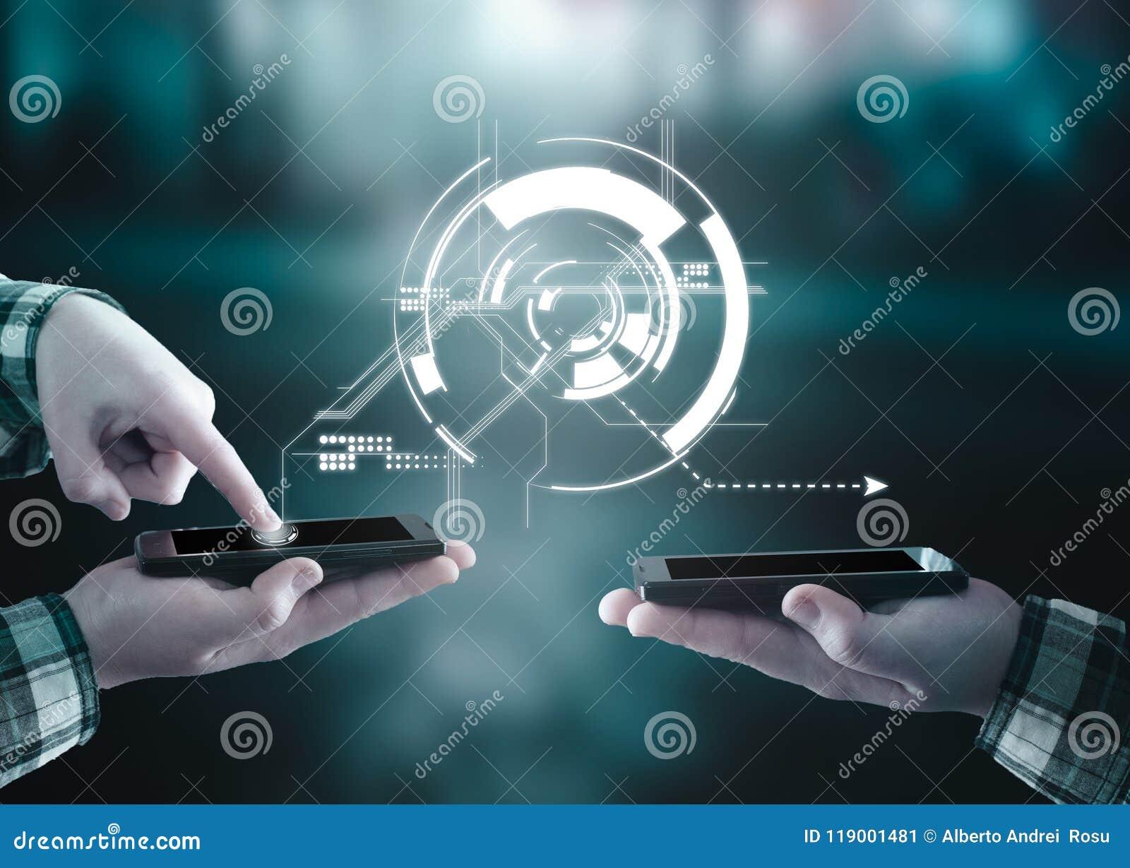 Transfert des données, données de transfert d un smartphone