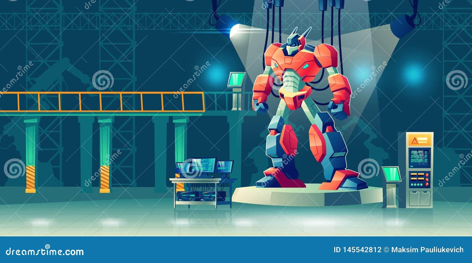 Transformador do robô da batalha no laboratório de ciência