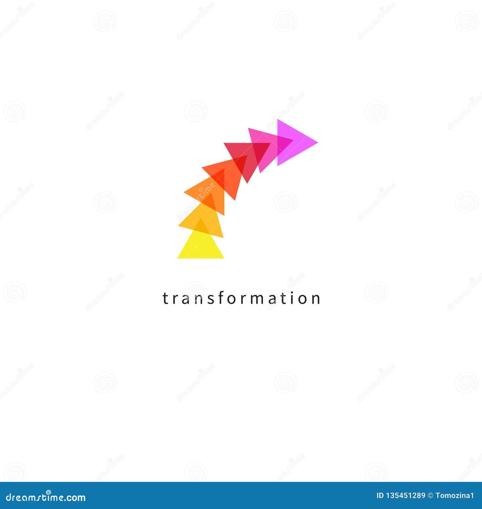 Transformation, Evolution, Development Icon Stock Vector