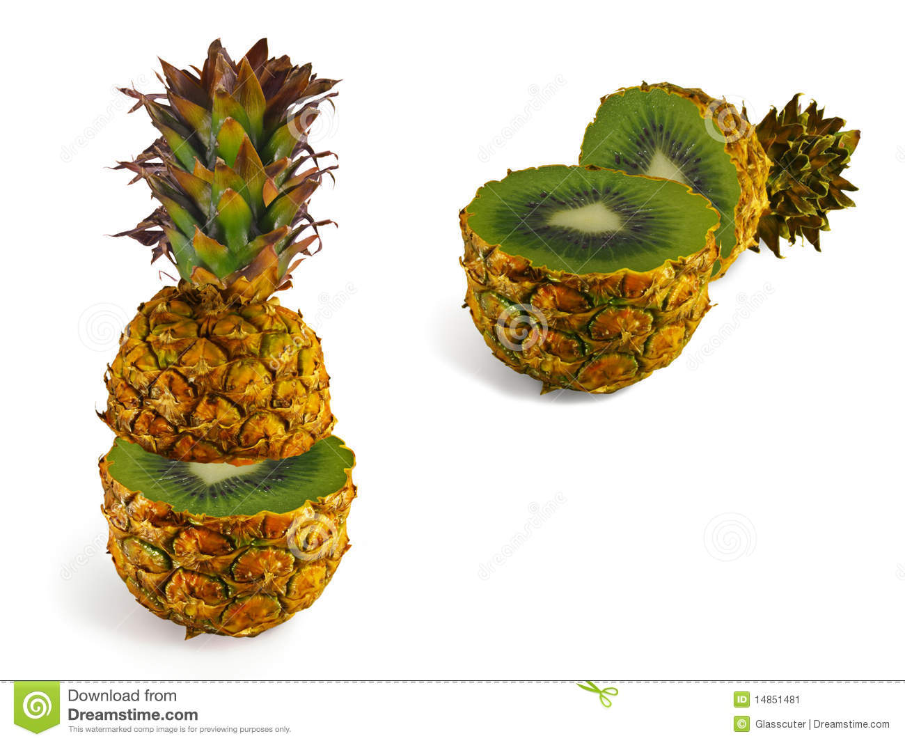 The transformation of pineapple in kiwi