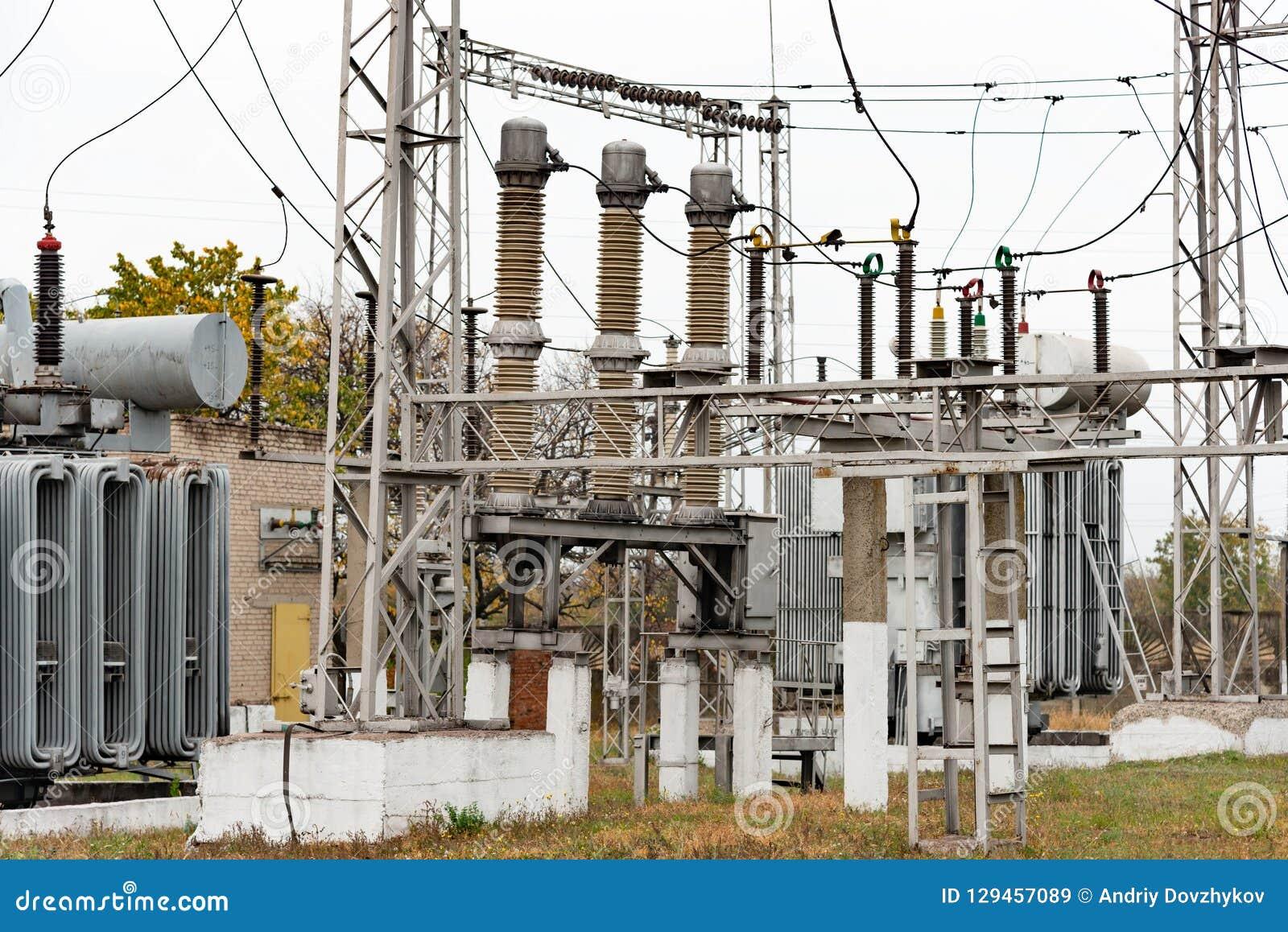 Transformer substation, high-voltage switchgear and equipment.