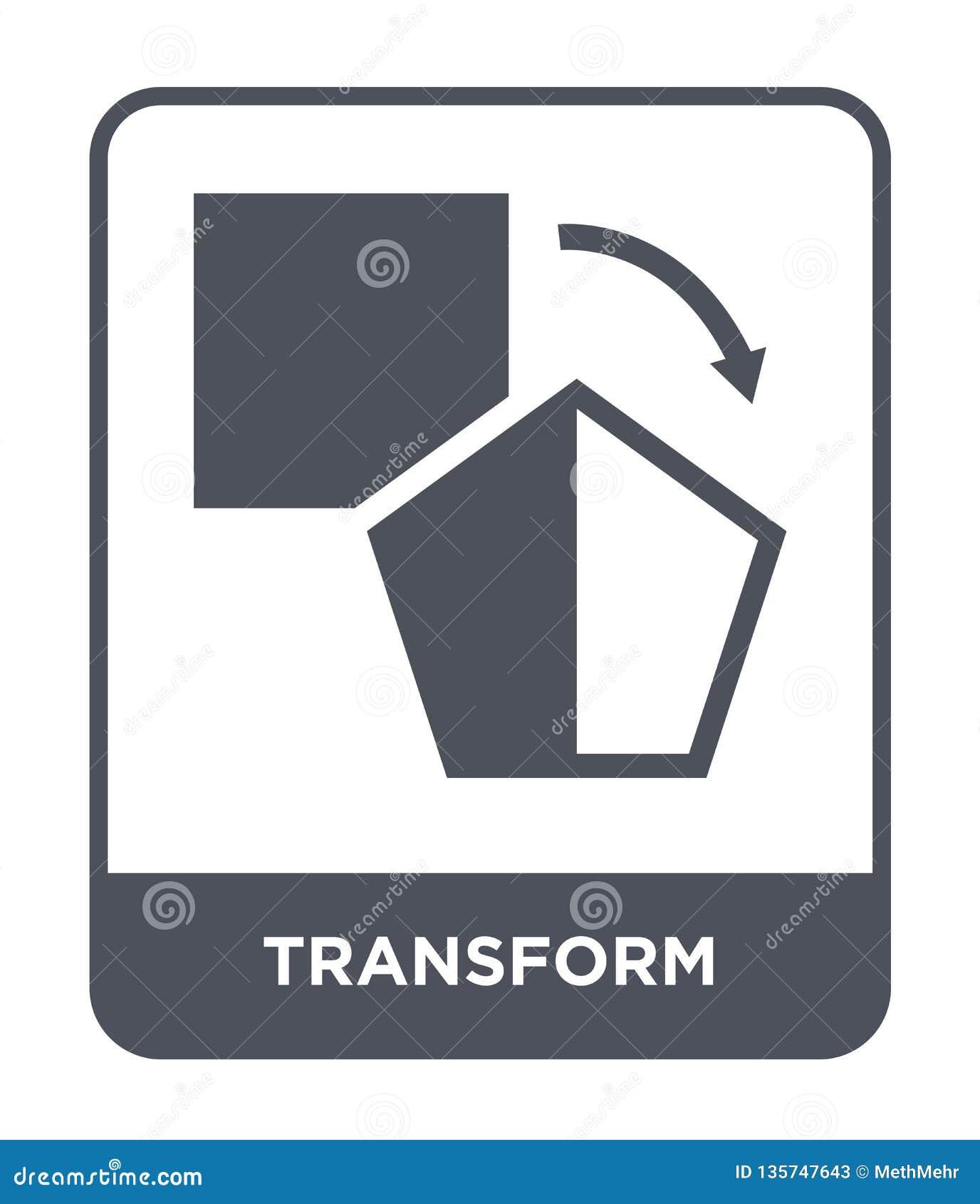 Transformez l icône dans le style à la mode de conception Transformez l icône d isolement sur le fond blanc transformez l apparte